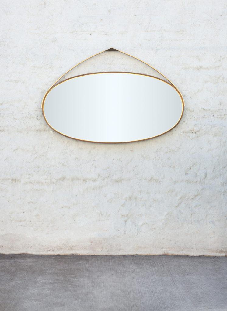 Gotham Hanging Oval Mirror