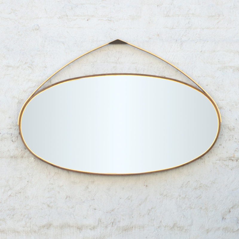Gotham Hanging Oval Mirror