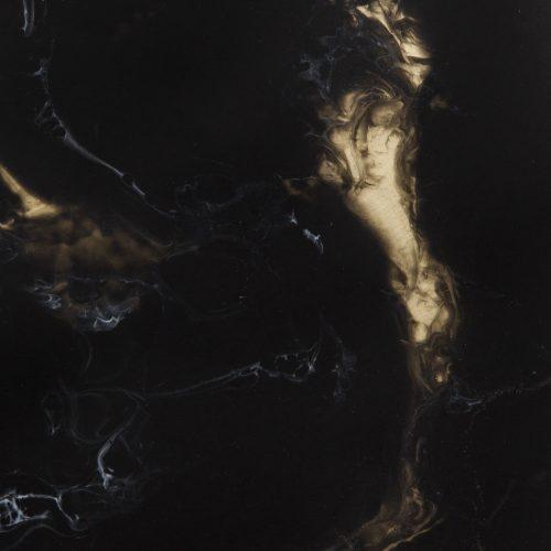 Black Marble: Brass + Resin